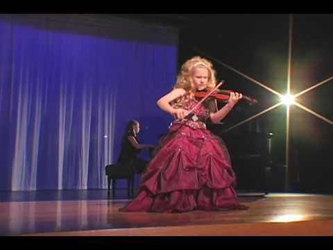 Incredible 7-Year Old Child Violinist Brianna Kahane Performs