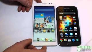 Huawei Ascend Mate vs Samsung Galaxy Note 2