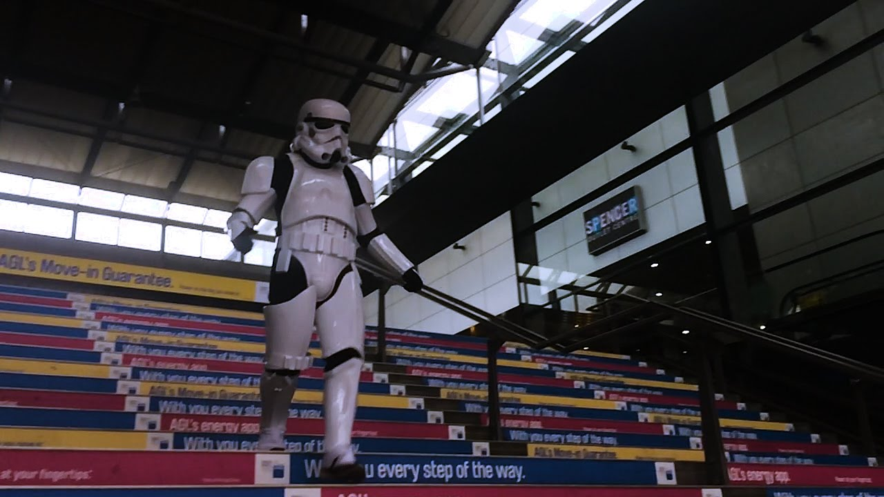 [Stormtrooper Fails At Basic Stair Climbing] Video