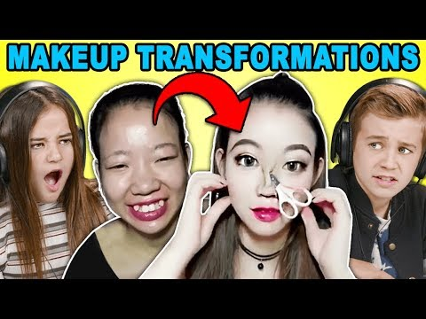 Kids React To Viral Asian Makeup Transformations Compilation