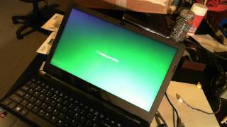 Acer Aspire E Series First Turn On
