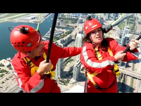 RMR  Rick and Jann Arden on the CN Tower Edgewalk.