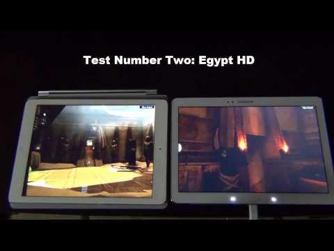 iPad Air vs Samsung Galaxy Note 10.1 2014 Edition Gaming and Graphics Comparison