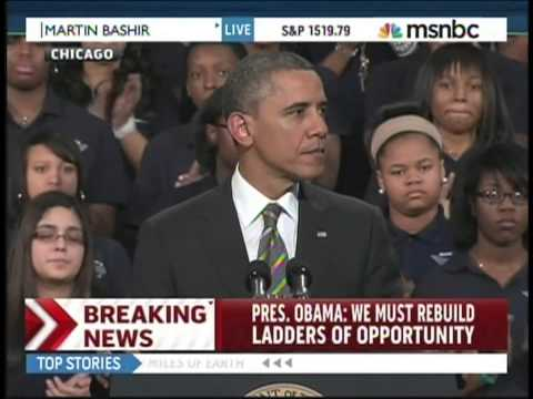 President Obama Hyde Park Academy Chicago Illinois (February 15, 2013) [1/2]