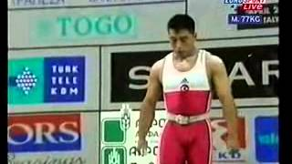 YASİN ARSLAN TUR  71kg  Antalya 2002 European Weightlifting 77kg