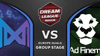 Nigma vs Ad Finem [GREAT] Leipzig Major DreamLeague S13 2019 EU Highlights Dota 2