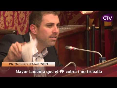 MAYOR LAMENTA QUE EL PP COBRA I NO TREBALLA