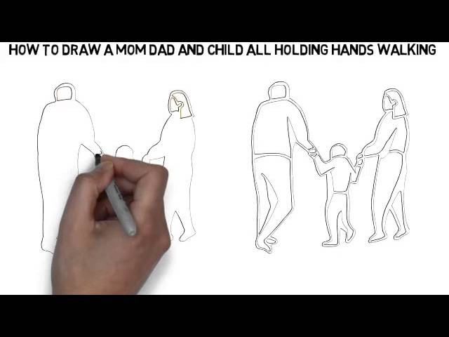 Mom Dad And Baby Drawing ▶ How to Draw a Mom Dad And