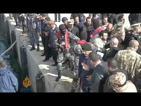 US navy steers rogue oil tanker back to Libya