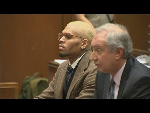Chris Brown in court: Singer has probation revoked and is ordered to stay in rehab