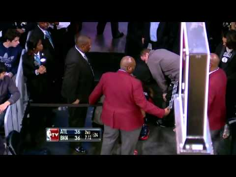 Louis Williams Injury | Nets vs Hawks  | Jan 18th, 2013