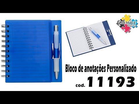 Bloco de Anotações 11193 Personalizado - Criative Brindes