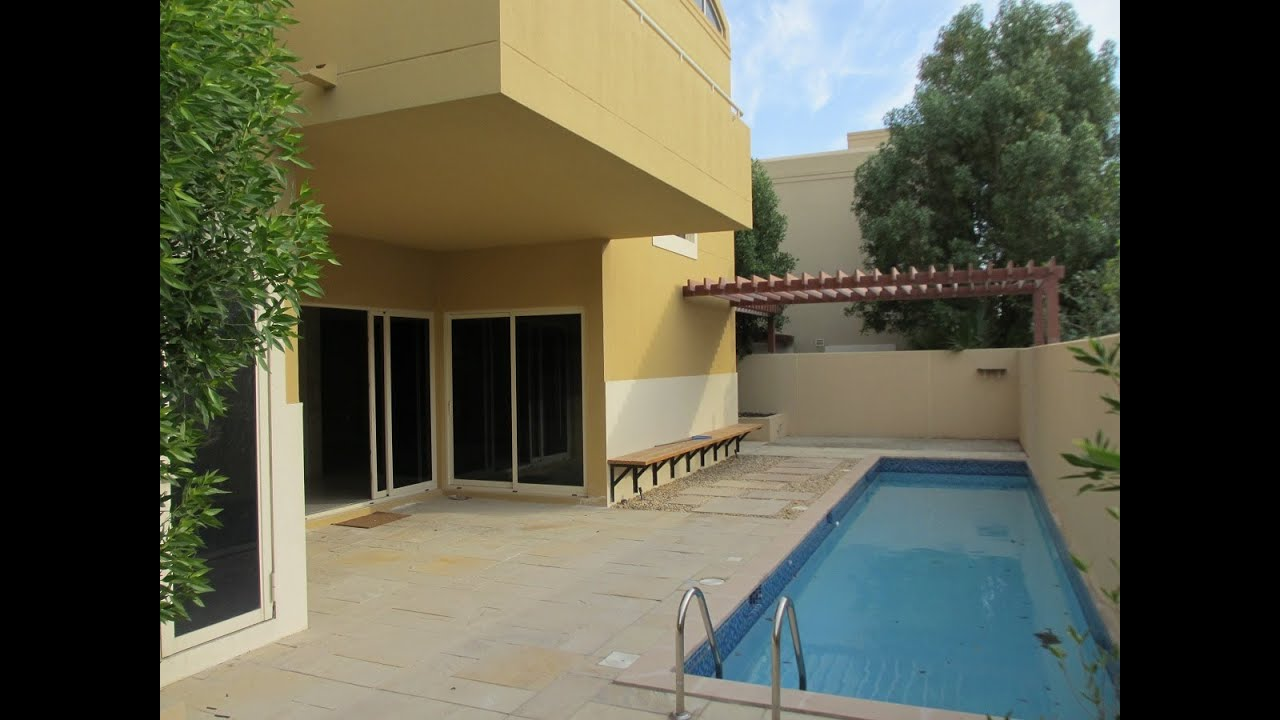 4br Villa With Swimming Pool In Al Raha Gardens Abu Dhabi Youtube