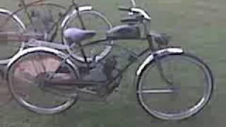 motorized bike.Bradley Morgan ride by