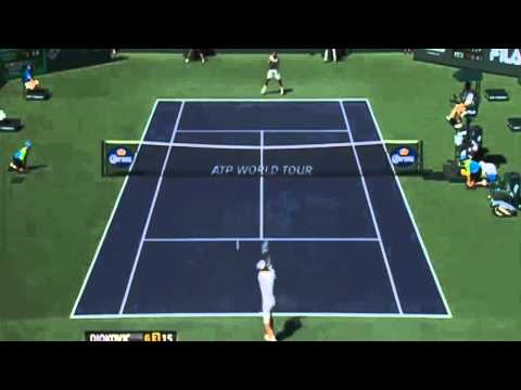 Novak Djokovic vs Jo Wilfried Tsonga - Match Point & Highlights ATP Indian Wells 2013 HD