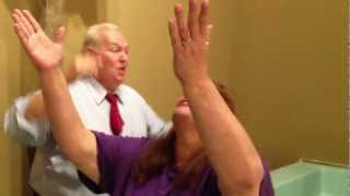Linda baptized in Jesus Name