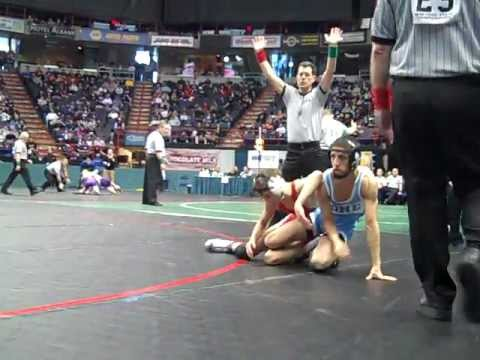 NY state semifinals: Kyle Kelly (Chenango Forks) defeats Nick Barbaria (New Rochelle) by pin