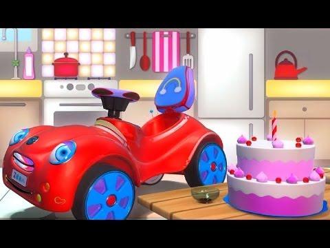 День рожденья - развивающий мультфильм для малышей про машинку