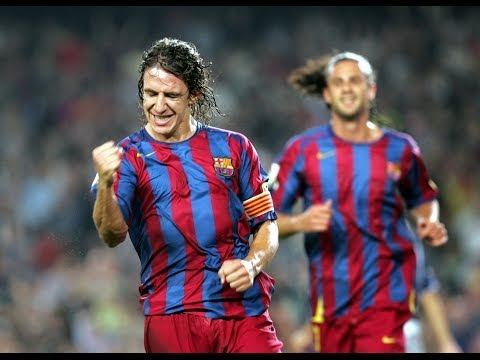 Carles Puyol's 18 goals for FC Barcelona