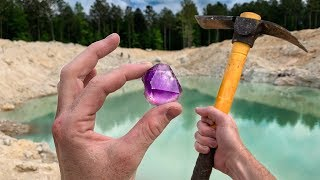 Found Rare Amethyst Crystal While Digging at a Mine! (Unbelievable Find)