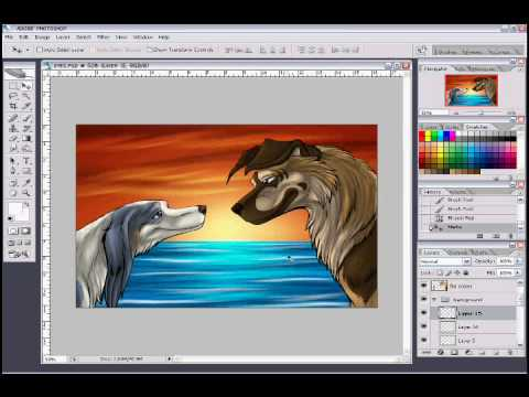 0 Drawing Sharp and Skye in Photoshop CS2