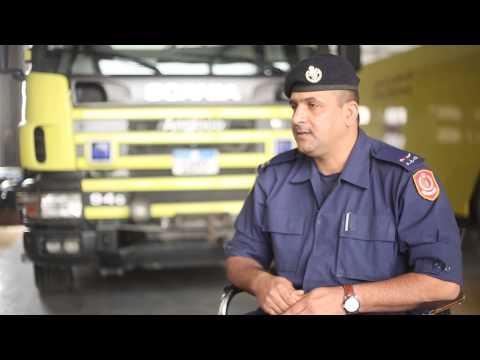 Bahrain#يوم في حياة رجل في الدفاع المدني 1/3/2015