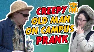 Creepy Old Man on Campus Prank