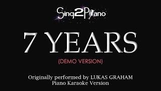 7 Years Piano Karaoke Demo Lukas Graham