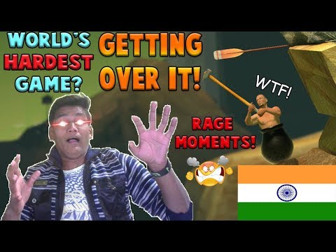 When an INDIAN Plays Worlds Hardest GAME | Getting Over It | Funny Moments, Rage & Fails