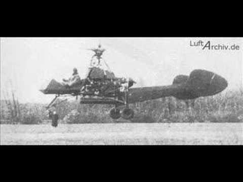 WW2 German Doblhoff  Jet tip Helicopter