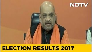 Gujarat And Himachal Election Results 2017 | Watch: Amit Shah's Full Speech at BJP Headquarters