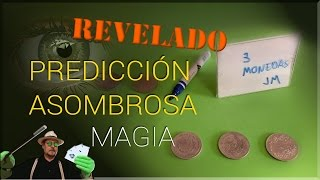 SUPER TUTORIAL de Magia: Predicción con monedas REVELADO - Magic Trick: coins  Prediction REVEALED