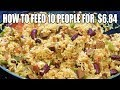 How To Feed 10 People for $6.84 - Delicious Family Feast on a Budget - The Wolfe Pit