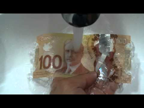 Polymer banknote: 100 Dollars Canadian Bill Plastic Money