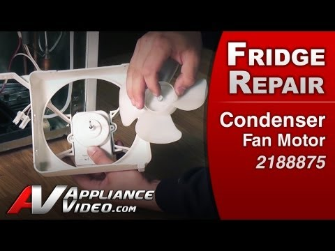 Condenser Fan Motor - Refrigerator Repair (Whirlpool Replacement Part # 2188875)