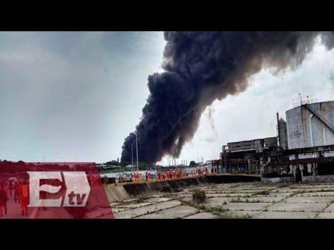 Fuerte explosión en planta de Pemex en Coatzacoalcos, Veracruz / Ricardo Salas
