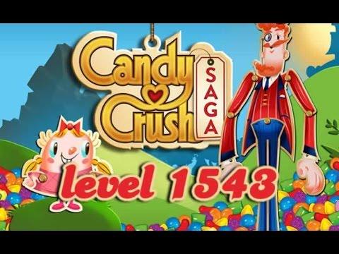 candy crush saga level 1543 youtube