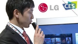 LG Voice Recognition Magic Remote - CES 2013