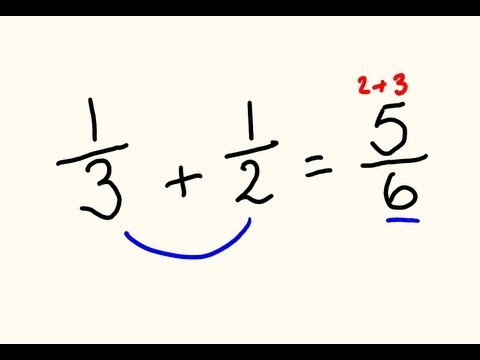 Fractions Addition And Subtraction Trick - Do Them The Fast Way! video