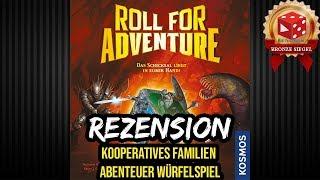 Roll for Adventure (Kosmos 2018) Rezension - Neuheit Spiel 2018