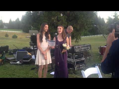 Bridesmaid's Song to Sister-
