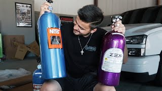The Race Truck's new 1000 shot Nitrous Kit from NOS!!