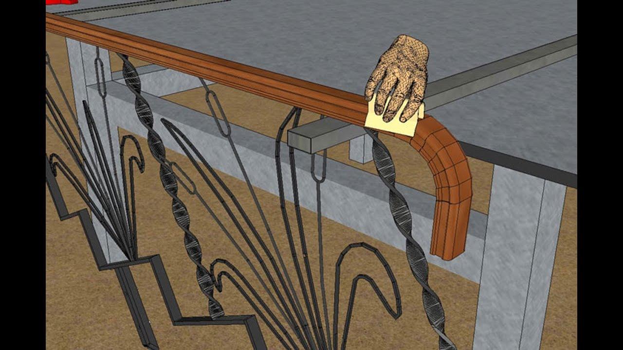 Faire une rampe en fer forg et bois 1ere partie youtube for Chaise fer forge et bois