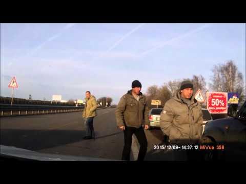 Авария Toyota HILUX VS Газель 09.12.2015 Воронеж-Медовка