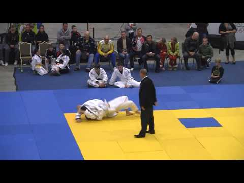 Winning fights by judokas from Fudoshin Club at Irish Open Judo competition in City West. Ireland.