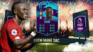 FIFA 20 SADIO MANE POTM SBC - IS HE WORTH IT??? - Premier League Player of the Month