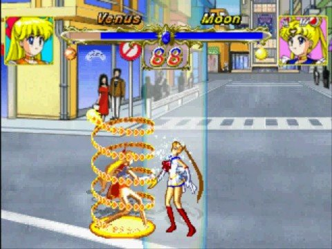 Sailor Venus Vs Sailor Moon(Playstation)