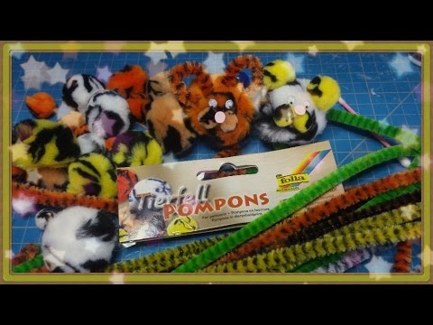 ✸ Pompomtiere/Tiere aus Pompoms ✸ Folia Kooperation ^^ Tutorial