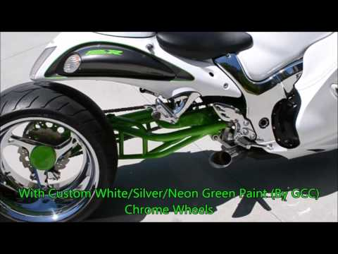 2011 Custom Suzuki Hayabusa 1300With A Custom C&S 360 Single Side Wide Fat Tire Kit