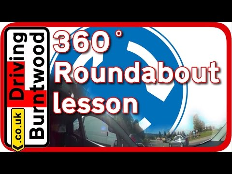 360° Roundabouts driving lesson in the UK